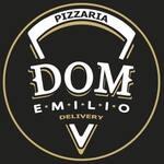 Logotipo Dom Emilio Pizzaria Delivery