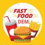 Logotipo Fast Food Dem