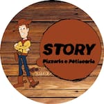 Logotipo Story Pizzaria Petiscaria