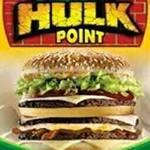 Logotipo Hulk Point hamburgueria e Pizzaria