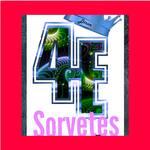 Logotipo 4estações: Sorvetes, Açaí e Hmburgueria.
