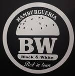 Logotipo Hamburgueria Black & White