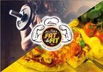 Logotipo Pizzaria Fat e Fit