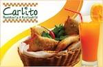 Logotipo Carlito Pastelaria e Rotisserie