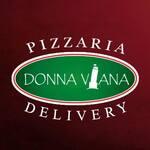 Logotipo Donna Viana Pizzaria e Esfiharia