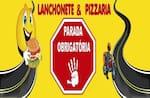 Logotipo Parada Obrigatória Pizza e Lanches