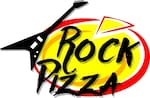 """Logotipo Rock Pizza """"pizza na Pedra"""""""