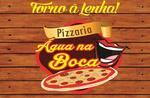 Logotipo Pizzaria Água  na Boca
