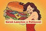 Logotipo Sarah Lanches e Petiscos