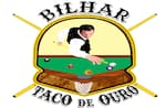 Logotipo Restaurante Bilhar Taco de Ouro