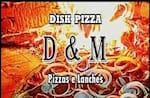 Logotipo Disk Pizza D&m Pizzas e Lanches
