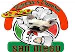 Logotipo Pizzaria e Creperia San Diego