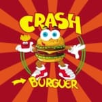 Logotipo Crash Burguer Lanches,xis e Porções