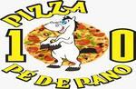 Logotipo Pizza 10 Pé de Pano