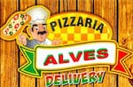 Logotipo Pizzaria Alves