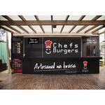 Logotipo Chefs Burgers Food Truck