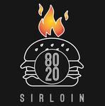 Logotipo 80-20 Sirloin Hamburguesas En Serio