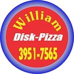 Logotipo William Disk Pizza