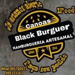 Logotipo Canoas Black Burguer