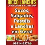 Logotipo Ricco Lanches Lanchonete e Pastelaria