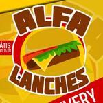 Logotipo Alfa Lanches e Açai
