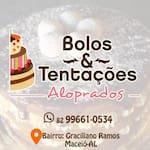 Logotipo Bolos e Tentações Aloprados