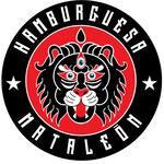 Logotipo Hamburguesas Mataleon Sangriento