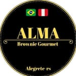 Logotipo Alma Brownie Gourmet