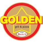 Logotipo Golden Grill e Pizza