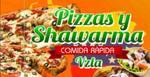 Logotipo Pizzas y Shawarma