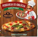 Logotipo Pizzaria Ki-delícia Delicia