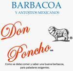 Logotipo Barbacoa y Antojitos Mexicanos Don Poncho