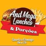 Logotipo And Mega Lanches e Porções