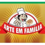 Logotipo Pizzaria Arte em Família