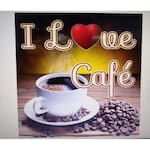 Logotipo I Love Café Cafeteria
