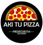 Logotipo Aki Tu Pizza