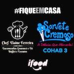 Logotipo Cremoso Cohab 3/ Buffet Elaine Ferreira