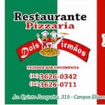 Logotipo Pizzaria dois irmãos ( pizzas e pratos )