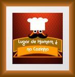 Logotipo Lugar de Homem e na Cozinha