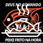 Logotipo M&j Peixe Frito na Hora