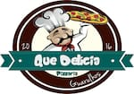Logotipo Pizzaria Que Delicia