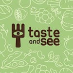 Logotipo Taste And See Vegano e Vegetariano